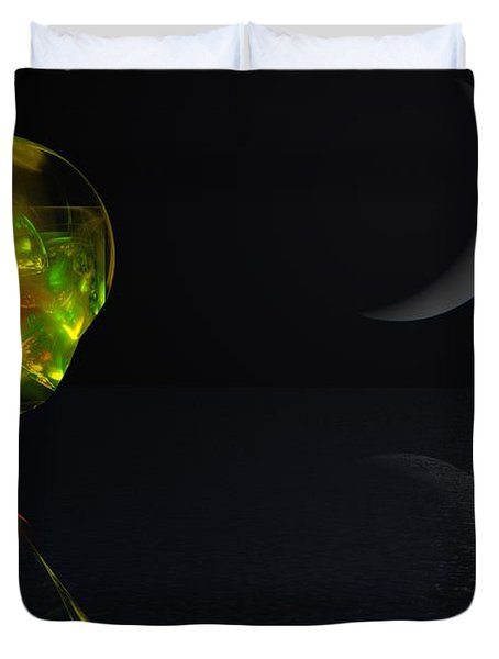 Robot Moonlight Serenade Duvet Cover by David Lane