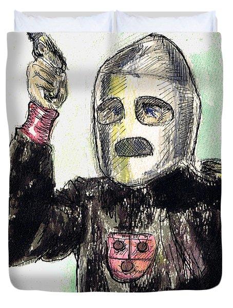 Rocket Man Duvet Cover by Mel Thompson