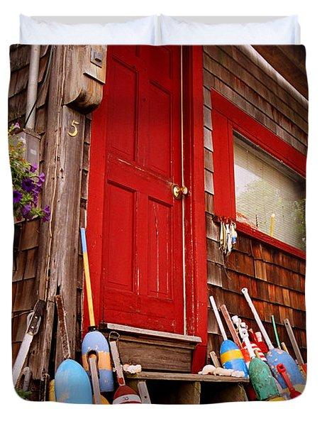 Rockport Buoys Duvet Cover by Joann Vitali
