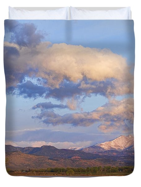 Rocky Mountain Early Morning View Duvet Cover by James BO  Insogna