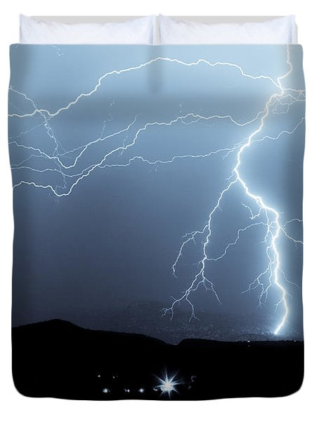 Rocky Mountain Storm  Duvet Cover by James BO  Insogna