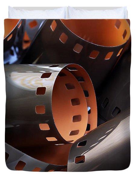 Roll Of Film Duvet Cover by Carlos Caetano