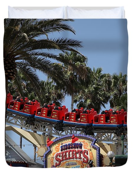 Roller Coaster - 5D17628 Duvet Cover by Wingsdomain Art and Photography