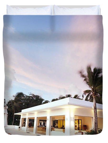 Romantic Place Duvet Cover by Setsiri Silapasuwanchai
