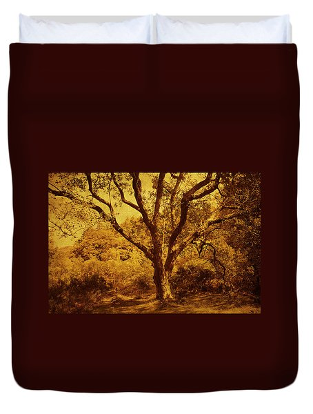 Roots Of Wisdom. Wicklow Hills. Ireland  Duvet Cover by Jenny Rainbow