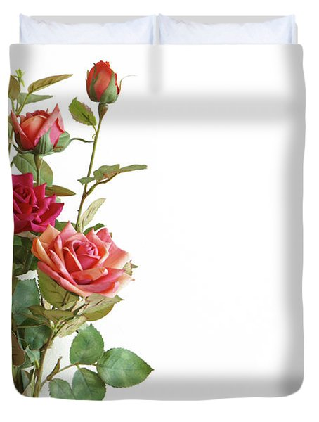 Roses Bouquet Duvet Cover by Carlos Caetano
