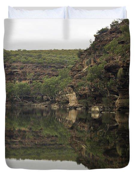 Ross Graham Gorge Duvet Cover by Robert Caddy