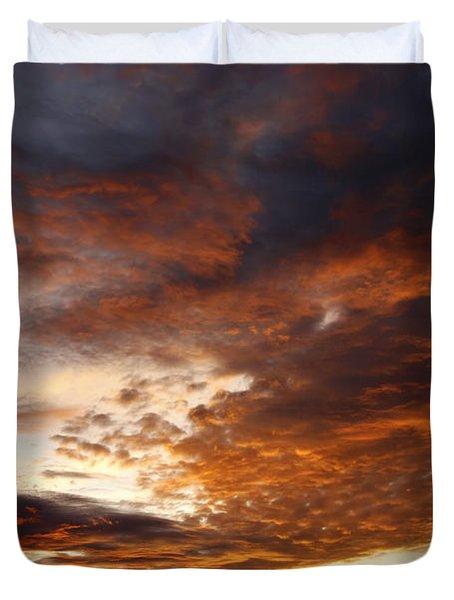 rosy sky Duvet Cover by Michal Boubin