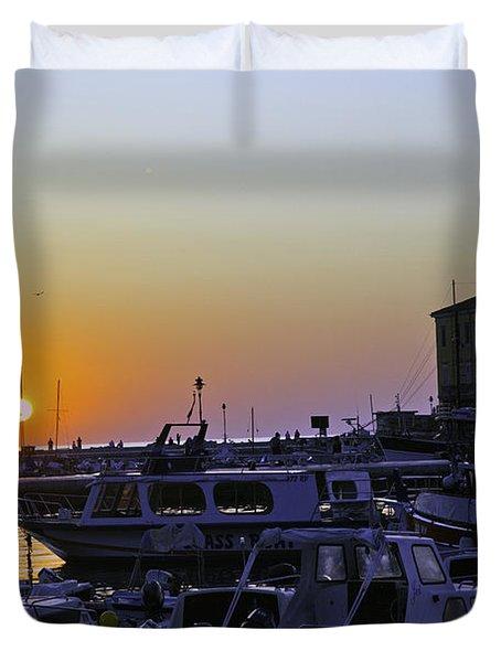 Rovinj Sunset Duvet Cover by Madeline Ellis