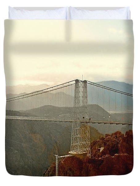 Royal Gorge Bridge Colorado - Take a walk across the sky Duvet Cover by Christine Till