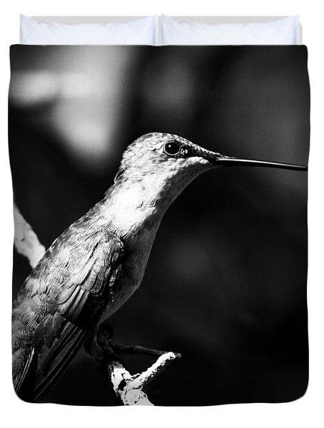 Ruby-throated Hummingbird - Signature Duvet Cover by Travis Truelove