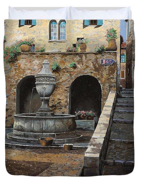 Rue Du Bresc A St Paul De Vence Duvet Cover by Guido Borelli
