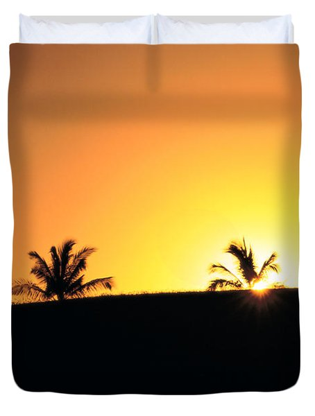 Running At Sunset Duvet Cover by Dana Edmunds - Printscapes