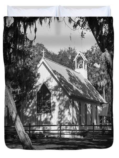 Rural Congregation Duvet Cover by Lynn Palmer