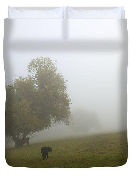 Rural Fog Duvet Cover by Mike  Dawson