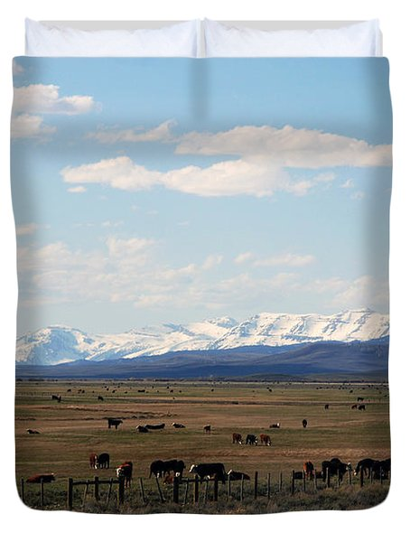 Rural Wyoming - On The Way To Jackson Hole Duvet Cover by Susanne Van Hulst