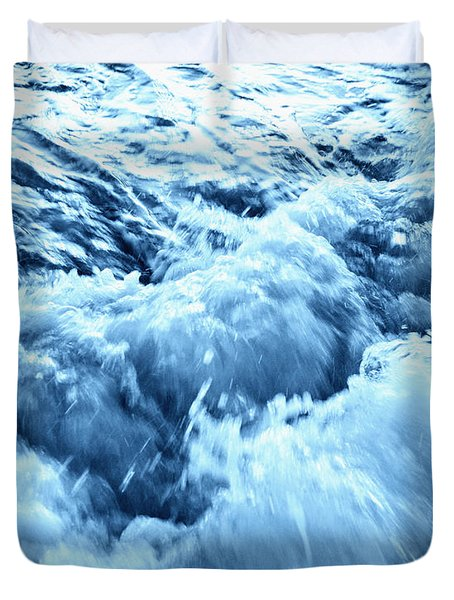 Rushing Water Duvet Cover by Skip Nall