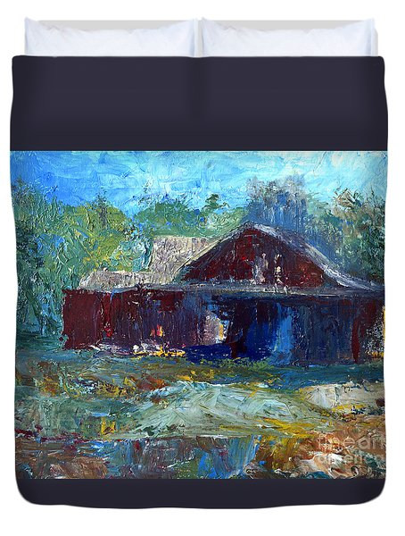 Rustic Barn Duvet Cover by Claire Bull