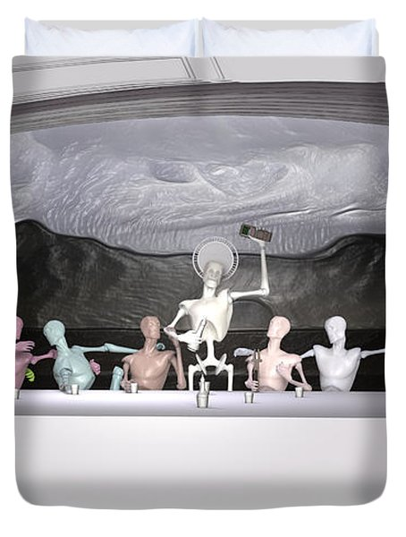 Sacrament Of The Machines Duvet Cover by Joaquin Abella