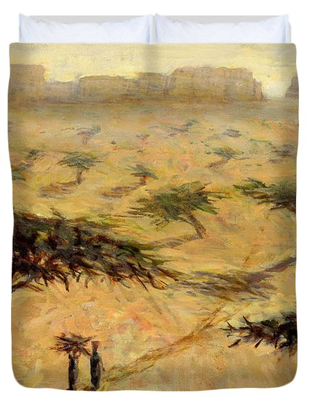 Sahelian Landscape Duvet Cover by Tilly Willis