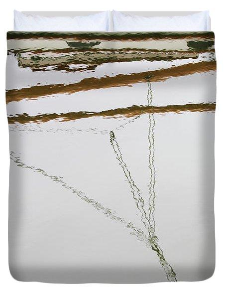 Sailboat Reflect Duvet Cover by Karol Livote