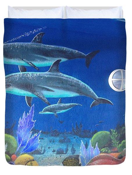 Sailfish Splash Park 2 Duvet Cover by Carey Chen