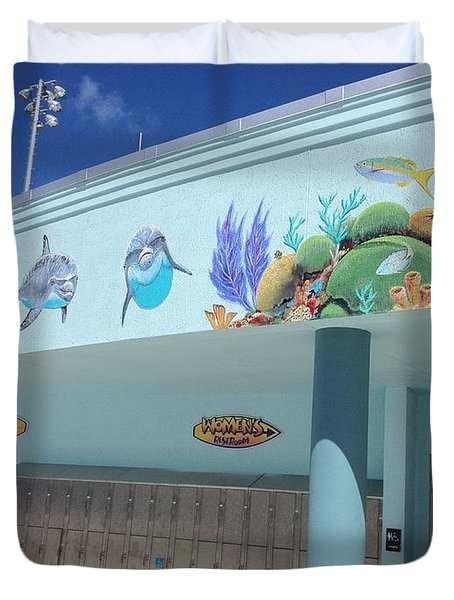Sailfish Splash Park 4 Duvet Cover by Carey Chen