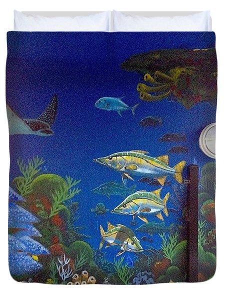 Sailfish Splash Park 9 Duvet Cover by Carey Chen
