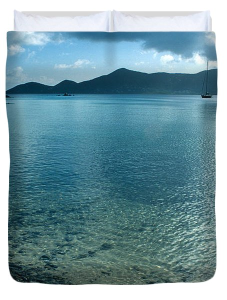 Sailing Away Duvet Cover by Kathy Yates