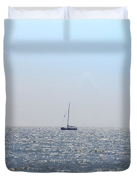 Sailing On Duvet Cover by Bill Cannon