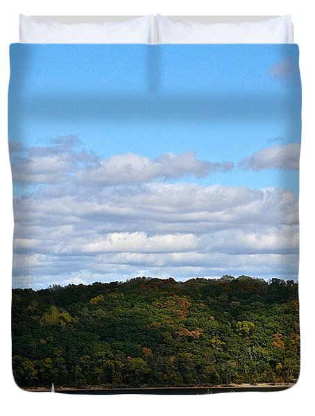 Sailing Summer Away Duvet Cover by Susan Herber