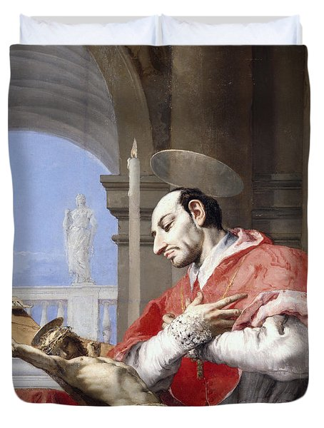 Saint Charles Borromeo Duvet Cover by Giovanni Battista Tiepolo