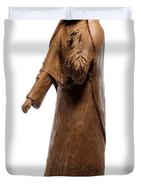 Saint Rose Philippine Duchesne sculpture Duvet Cover by Adam Long