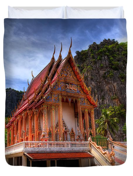 Sam Roi Yot Temple Duvet Cover by Adrian Evans