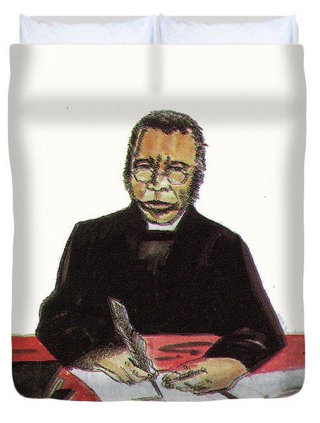Samuel Ajayi Crowther Duvet Cover by Emmanuel Baliyanga