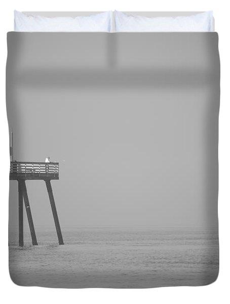 san clemente pier Duvet Cover by Ralf Kaiser