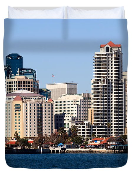San Diego Buildings Photo Duvet Cover by Paul Velgos
