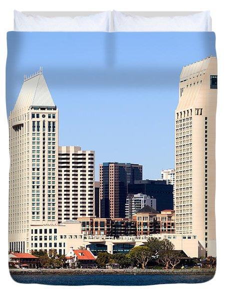 San Diego Skyscrapers Duvet Cover by Paul Velgos