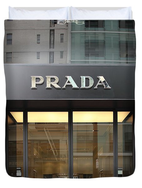San Francisco - Maiden Lane - Prada Fashion Store - 5d17798 Duvet Cover by Wingsdomain Art and Photography