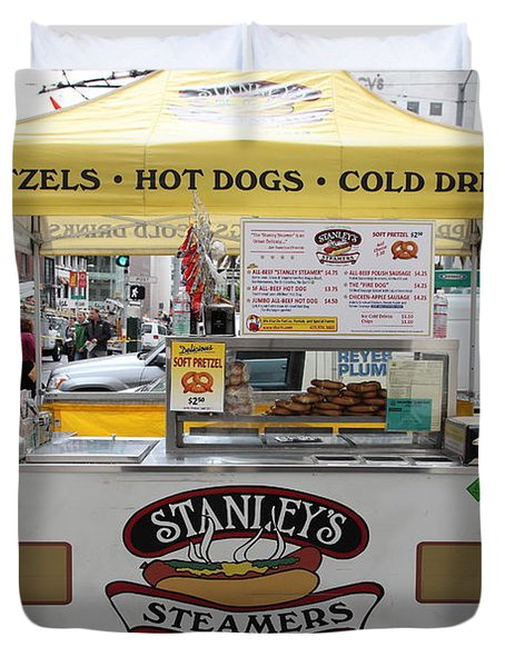 San Francisco - Stanley's Steamers Hot Dog Stand - 5D17929 Duvet Cover by Wingsdomain Art and Photography