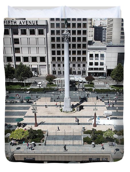 San Francisco - Union Square - 5D17942 Duvet Cover by Wingsdomain Art and Photography