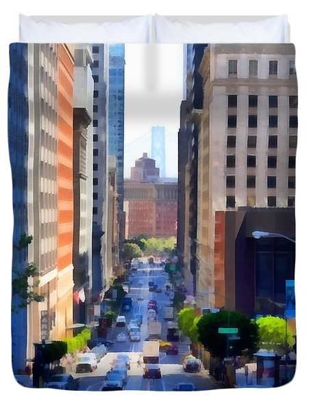 San Francisco California Street  . 7d7186 Duvet Cover by Wingsdomain Art and Photography
