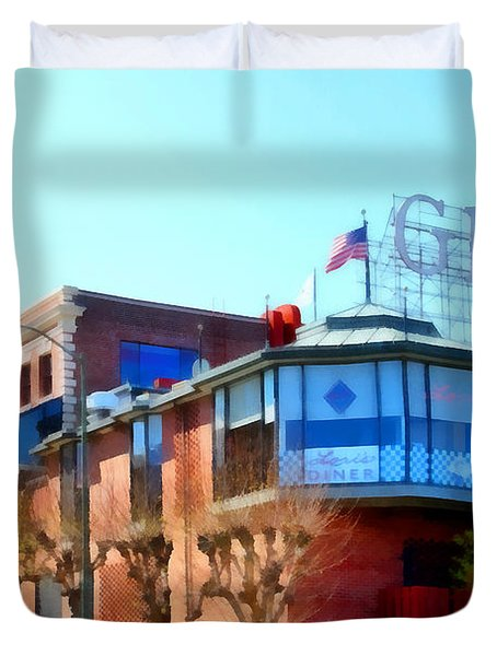 San Francisco Ghirardelli Chocolate Factory . 7d14093 Duvet Cover by Wingsdomain Art and Photography