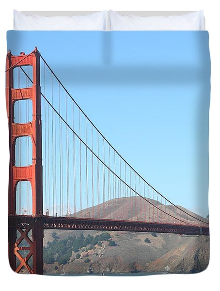 San Francisco Golden Gate Bridge . 7D7802 Duvet Cover by Wingsdomain Art and Photography