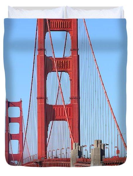 San Francisco Golden Gate Bridge . 7d8164 Duvet Cover by Wingsdomain Art and Photography