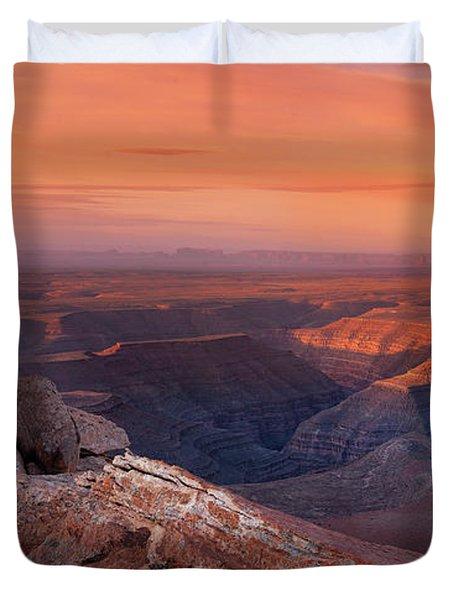San Juan River Light Duvet Cover by Leland D Howard