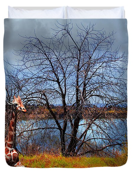 Sanctuary . 7D12636 Duvet Cover by Wingsdomain Art and Photography