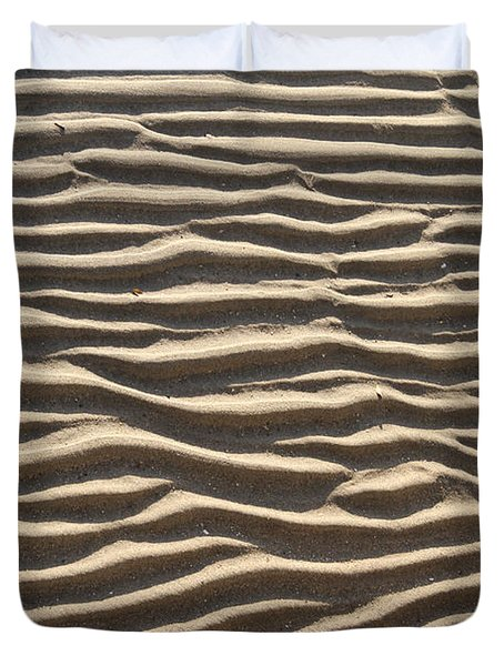 Sand Ripples Duvet Cover by Photo Researchers, Inc.