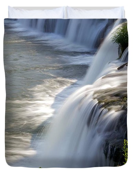 Sandstone Falls Wv Duvet Cover by Sean Cupp