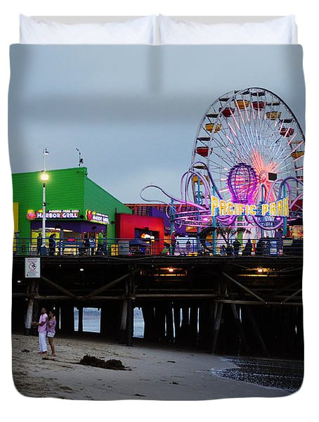 Santa Monica Pier May 12 2012 Duvet Cover by Clayton Bruster